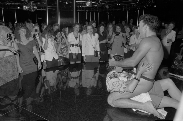 Male stripper at Josephine's Nightclub 1992